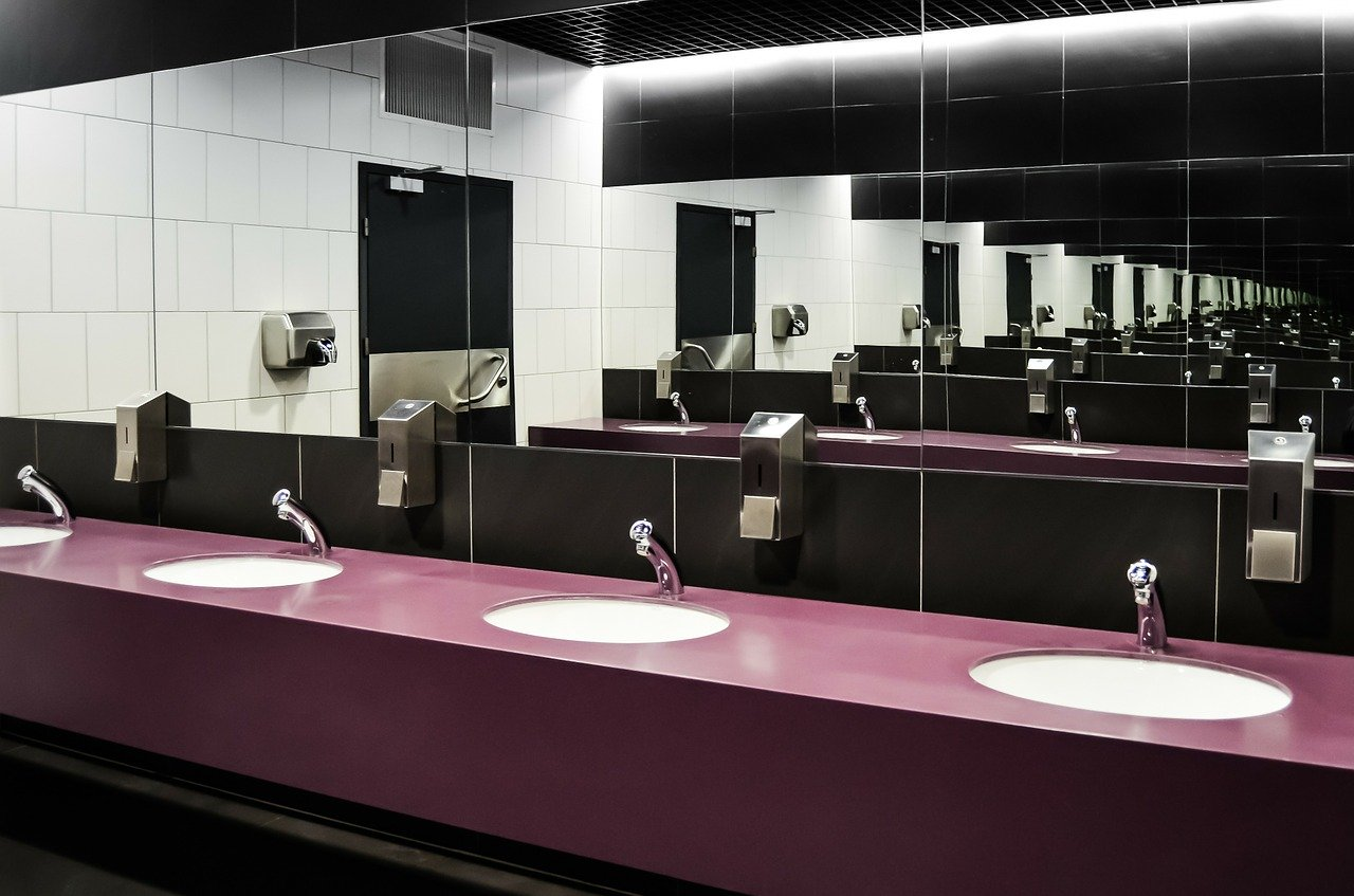 Washroom facilities cleaned by Marshalls Commercial Cleaning