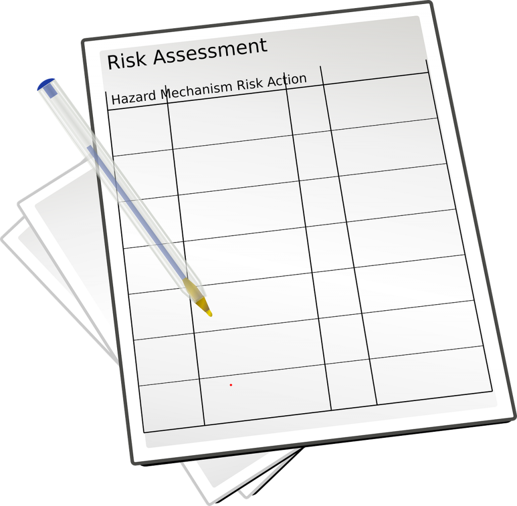 risk assessment, paperwork, compliance